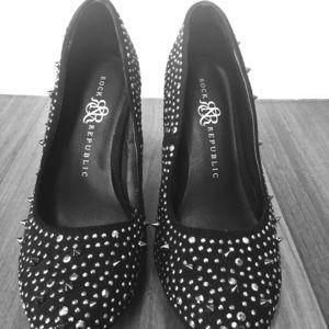 Rock & Republic black spiked heels